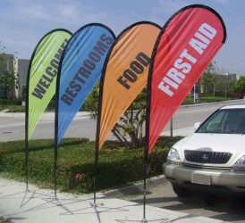 Flags are an effective way to advertise your service or products