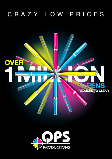 Over 1 Million pens reduced to clear!