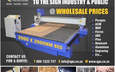 CNC routering offered to the sign industry and public