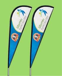 Sharkfin Flags